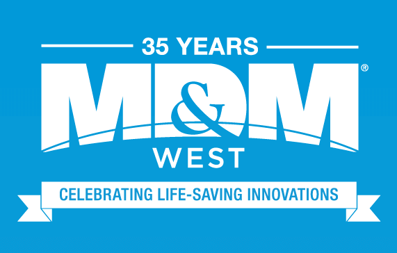 MD&M West 35 Years Logo