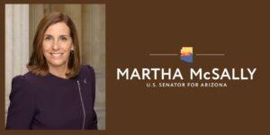 Senator Martha McSally official portrait and logo