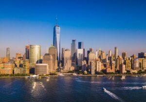 New York skyline with Freedom Tower