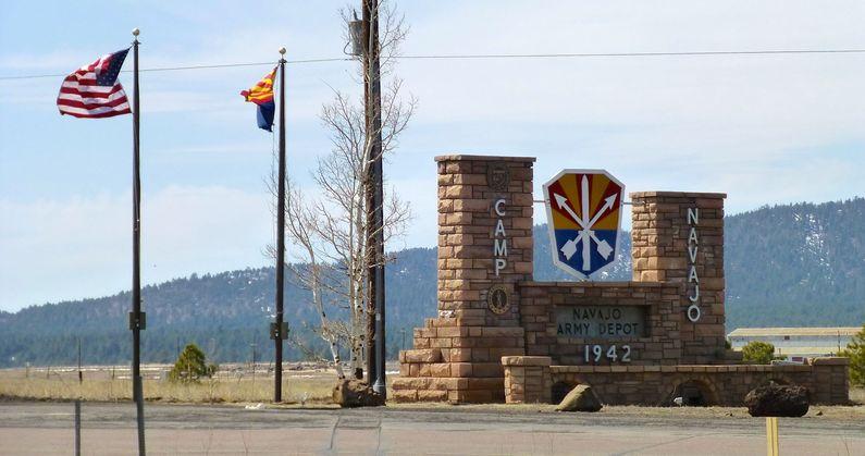 Camp Navajo entrance