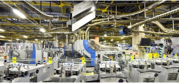 manufacturing floor of company
