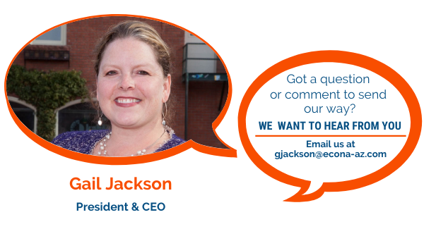 Contact Us graphic featuring Gail Jackson