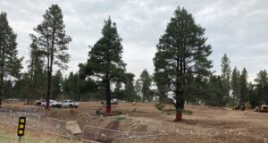 Work on new parking lot at airport