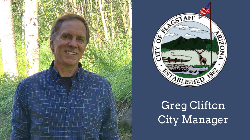 Greg Clifton and City seal