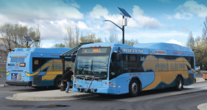 Mountain Line buses at transfer station